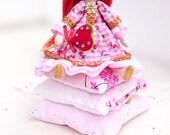 Little Princess and the Pea Tilda doll fabric doll handmade birthday gift cute cloth doll rag doll Valentine's Day Gift