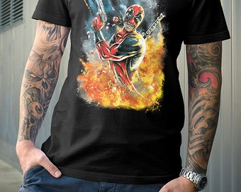 Deadpool Shirt | PREMIUM QUALITY | Superhero | Marvel | Comic Tee | Geek Clothing | T-Shirt | Geek Tee | Geek Gift