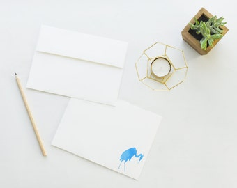 Great Blue Heron Stationery - Set of 12 Correspondence Cards