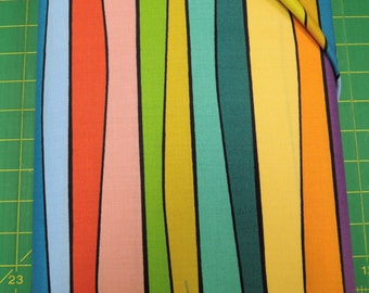 Cutting Garden fabric. Stripe colorful contemporary modern yellow red green blue purple quilters quilting cotton Andover Kim Schaefer 4149