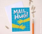 Blank Greeting Card, Friendship card, Mail Hug, A2 greeting card