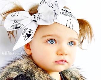 TEEPEE Gorgeous Wrap- headwrap; fabric head wrap; teepee head wrap; newborn headband; baby headband; toddler headband