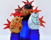 Egg Gourd- Egg ornaments- Rooster Ornament- Easter Ornament- Easter Egg Tree- Ornament display tree