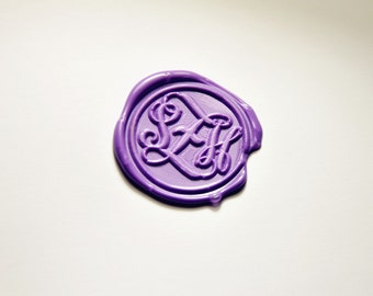 3 triple initials monogram letters Personalized wax seal stamp weding wax seal family party wax seal