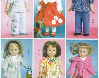 """18"""" Doll Clothes Sewing Pattern, 18 Inch Doll Costumes Sewing Patterns, Doll Clothes Pattern, Uncut Sewing Pattern, McCalls Crafts M5775"""