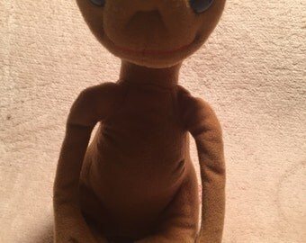1982 showtime stuffed plush ET doll, stuffed ET doll
