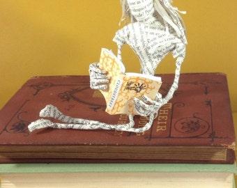 Book sculpture, Book art,  Tim Winton, paper sculpture, paper art, Cloudstreet, Little reader, book lover, repurposed book, librarian