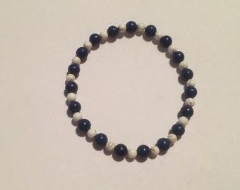 Blue Lapis w/Howlite Bracelet