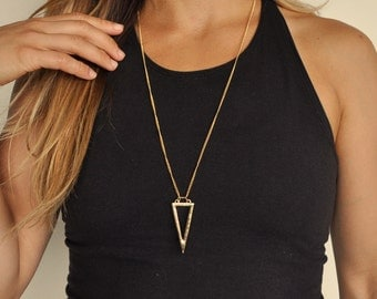 Inverted Triangle Geometric Necklace