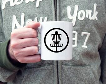 Disc golf coffee mug, disc golf basket, frisbee golf, novelty mug, sports mug, ace, basket,  sarcastic mug, statement mug, disc golf