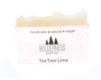 Tea Tree Lime Soap, Natural Soap, Vegan Soap, Palm Free Soap, Cold Process Soap