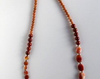 Gemstone Necklace featuring Agate, Aventurine, Hematite and Jasper