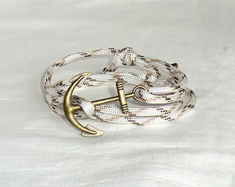 Anchor Rope Bracelet Paracord Bracelet Anchor Bracelet Nautical Bracelet Anchor Jewelry Nautical Jewelry charm  Gift for her Gift for him