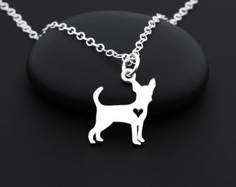 Chihuahua Necklace, Chihuahua Jewelry, Silver Dog Necklace, Pet Necklace, Pet Lover Gifts, Sterling Silver, Dog Jewelry, Pet Jewelry, ChiChi