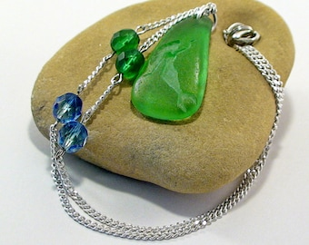 Mermaid Necklace Sea Glass Seaglass Jewelry Beach Wedding Beach Jewelry Sea Glass Jewelry