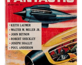 Fantastic Science Fiction Magazine 1966-Walter Miller-Joseph Shallit-John Beynon-Robert Sheckley-Poul Anderson-Keith Laumer-Short Stories