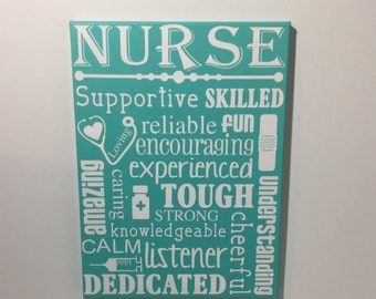 Nurse gift - Painted canvas sign - gift for nurse -  nurse appreciation gift - gifts for nurses - nurse sign - sign for nurses