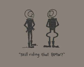 Men's BMW motorcycle rider cartoon shirt