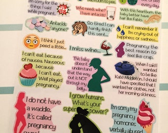 Funny Pregnancy Planner Stickers