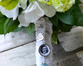 Bouquet Charm,Something Blue, Wedding Bouquet Charm, Bridal Gift, Gift For Bride, Wedding Memorial, Bridal Accessories