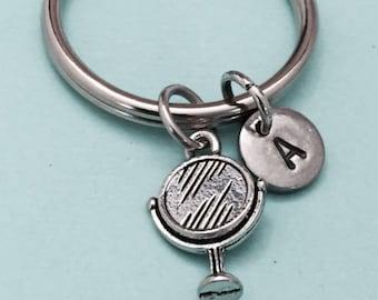 Mirror keychain, mirror charm, beauty keychain, personalized keychain, initial keychain, initial charm, customized, monogram
