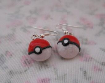 Pokemon Pokeball earrings.