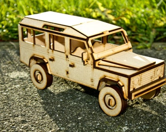 Land Rover. Wooden model.