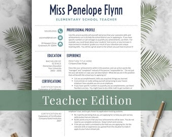 Elementary Teacher Resume Template For Word U0026 Pages, 1   3 Pages, Meet The  Educator Resume Template