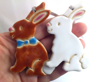 Easter bunny, pottery decorations