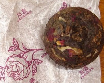 2007 Ripe Pu'erh Tea With Rose Petals