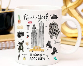 Coffee Mug New York City Essentials Coffee Cup - NYC - New York Fashion - New York Mug