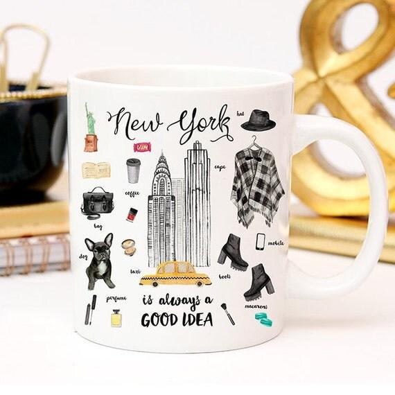 Coffee Mug New York City Essentials Coffee Cup - NYC - New York Fashion - New York Mug