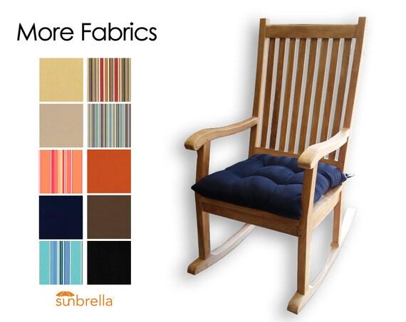 ... Rocking Chair Seat Cushion - Choose Your Fabric - Porch Rocker Cushion