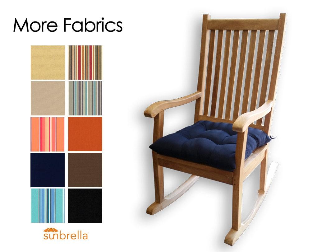 sunbrella rocking chair seat cushion choose your fabric. Black Bedroom Furniture Sets. Home Design Ideas