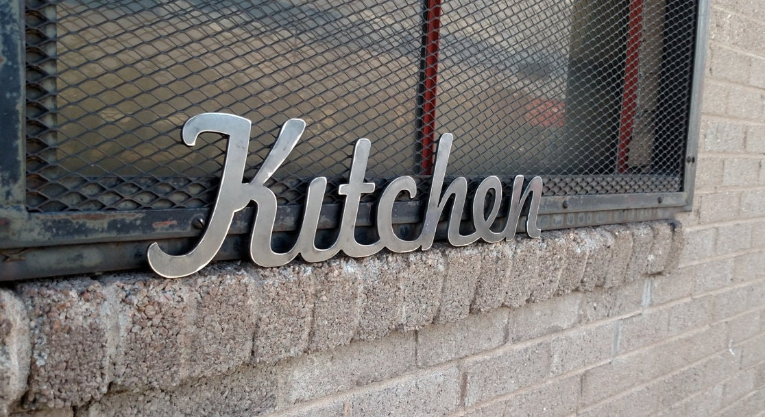 Kitchen Metal Sign For Home Decor / Wall Signs / Gifts / Metal