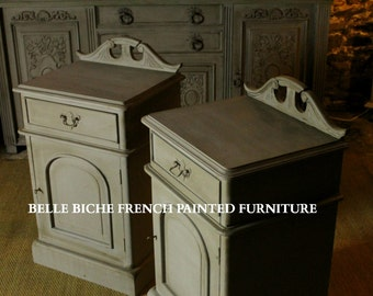 SOLD **** Other Bedside Drawers en route ****  Exquisite Pair Original French Bedside Cabinets