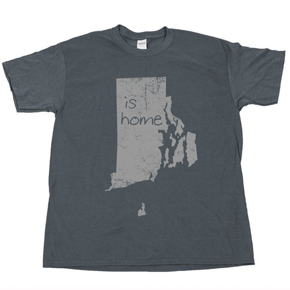 Rhode island is home ocean state t shirt tee pride by for T shirt printing providence ri