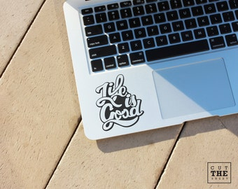 Life is good (retro) - Laptop Decal - Laptop Sticker - Car Sticker - Car Decal