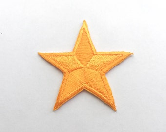 Orange Star Iron on Patch(S)-Star Applique Embroidered Iron on Patch -Size 4.2x4.2 cm