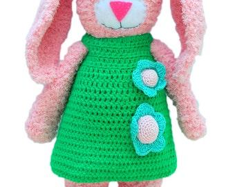 Easter crochet bunny -Rosy pink-crochet rabbit-stuffed bunny toy