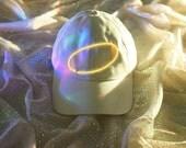Angel Halo Cap, White Angel Cap, Neon Sign Cap, Light Up Cap, 90s, Cyber Angel, New Media, Aesthetic, Tumblr, Tears Machine