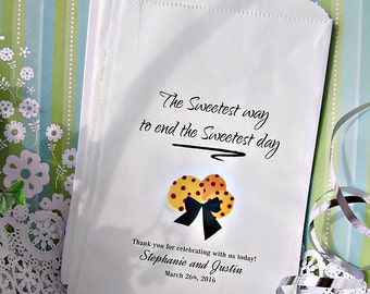 Personalized Cookie Bags (24 BAGS) - Wedding Cookie Bags - Birthday Cookie Bar Bags - Cookie Buffet - Love C09Z-P19