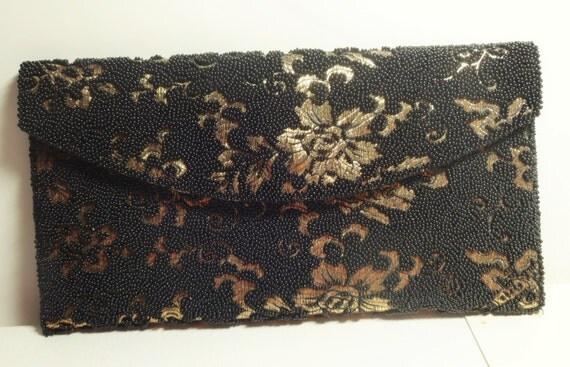 Vintage Purse~60s Designer Elsie Tu Beaded Handbag~Hong Kong~Evening Bag Clutch