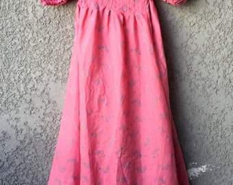 CLEARANCE Bright Pink floral 80's party dress