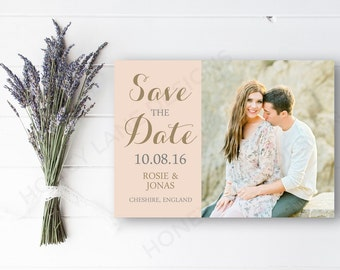 Personalised Printable, Save-the-Date-Printable Card - Rosie Collection