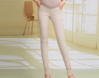 Lace Maternity Leggings Mod Mums