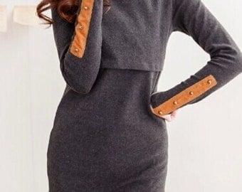 Maternity Nursing Sweater Dress