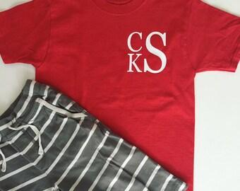 Boys Monogram Shirt - Short or Long Sleeve
