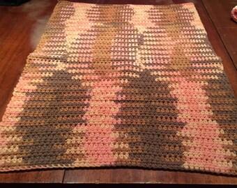 Hand Crocheted Dishtowel, Desert Rising 16x22