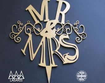 Cake Topper Wedding Mr & Mrs